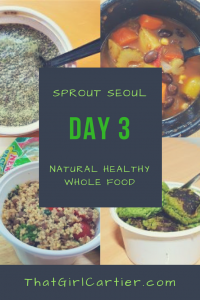 Food Review of Natural Healthy Vegan Food Subscription Service Sprout Seoul in Korea