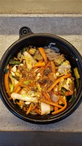 Sprout Seoul Vegan Menu Food Review Singapore Noodles (sweet potato glass noodles, bok choy, carrots, bean sprouts, onions stir fried in a spicy soy sauce)