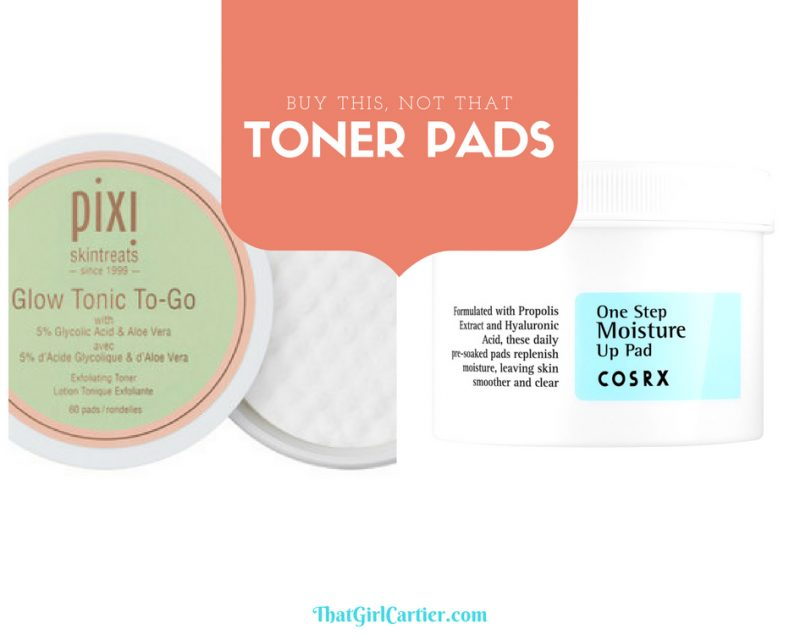 Korean Beauty Skincare Review Hydrating Toner Pads COSRX One Step Moisture Up Pad Pixi Beauty Glow Tonic To-Go That Girl Cartier