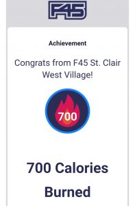 F45 Challenge Heart Rate Monitor F45 Calories Burned